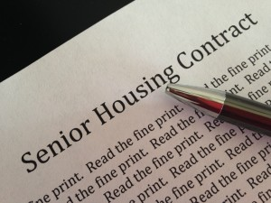 Senior Housing Contracts – Reading the Fine Print